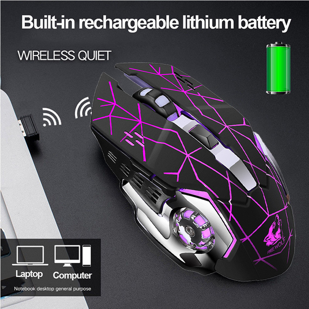 2.4GHz USB Wireless Rechargeable LED Backlit Optical Ergonomic Gaming Mouse