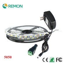 Buy LED Strip 5050 RGB Flexible Non-Waterproof 60leds/m LED Strip + 12V 3A Adapter + 44 key remote String Lighting Decoration for $8.99 in AliExpress store