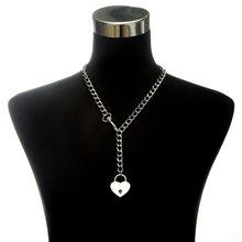 Moda srebrny choker łańcuszek naszyjnik dla kobiet/mężczyzn długi naszyjnik z łańcuszkiem wisiorek Punk Rock Gothic metalowy kołnierz z O okrągły(China)