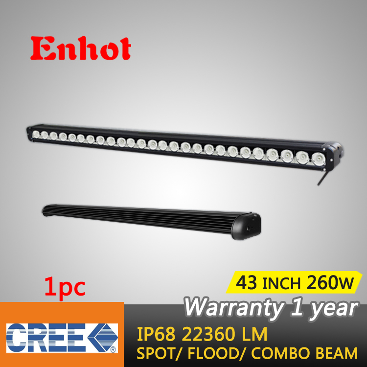 Free shipping 42 INCH 260W CREE LED LIGHT BAR , FOR OFF ROAD 4x4 MARINE BOAT TRUCK TRACTOR ATV UTE LED BAR LIGHT 40W/300W(China (Mainland))