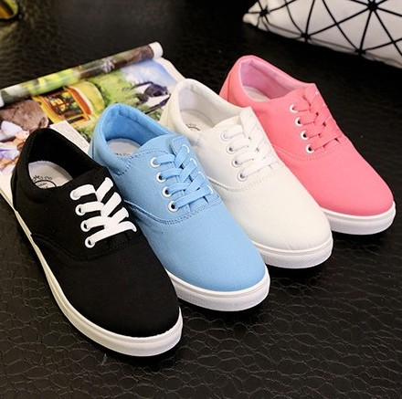 SMYZTC-10003 New 2015 Ladies Shoes Trendy Casual Flat White Black Women Flats Lace Up Solid Oxford Shoes For Womens Sneakers<br><br>Aliexpress