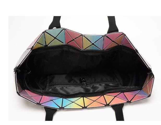 2016 Women's  Baobao Bag Japan Style Hight Quality As Baobao Lattice Geometric Package 3D Rainbow  Shoulder Bags 5*8 lattice