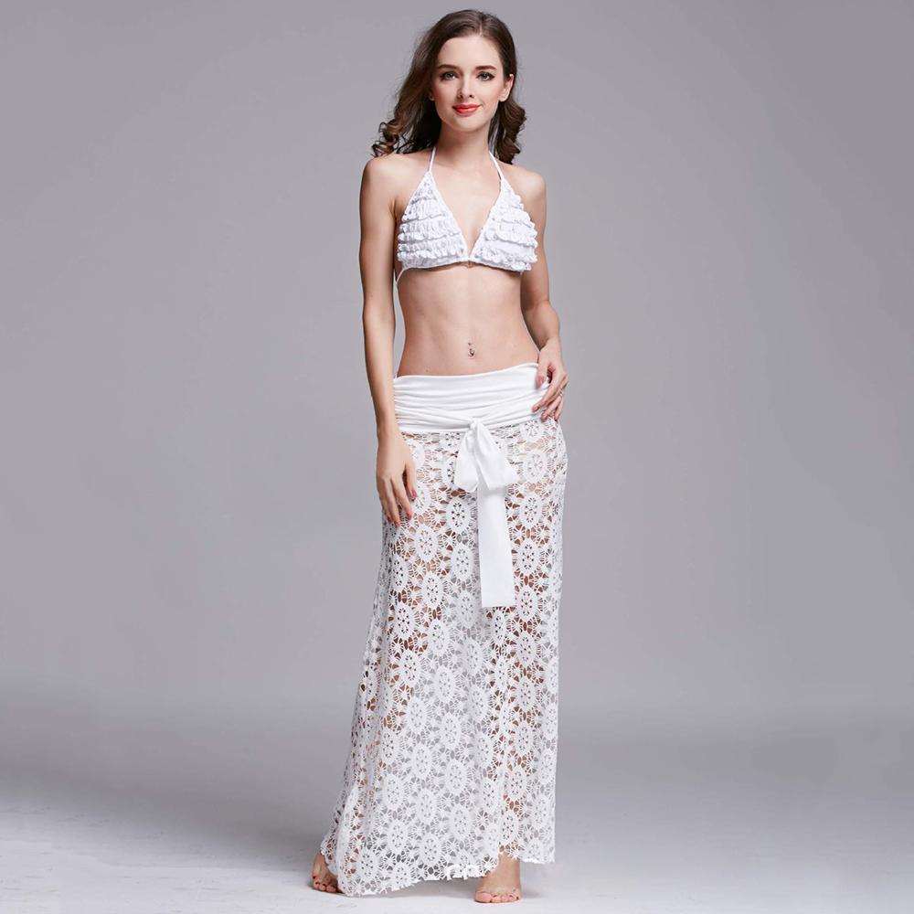 Sexy Women Bikini Swimwear Cover Up Beach Dress Mesh Hole Ruched Crochet Dress Vacation Summer Cover Up Beach Dress(China (Mainland))