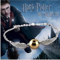Harry Potter golden Snitch Bracelet ss003#