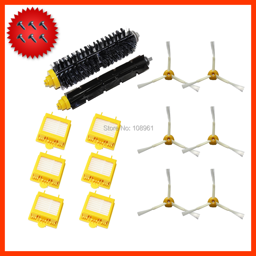 Потребительские товары Hepa 3/+ iRobot Roomba 700 760 770 780 790 for iRobot Roomba 700 Series 760 770 780 790 3 pack 3 armed side brush replace for irobot roomba vacuum 800 series 880 870 900 series 980 vacuum cleaning accessory kit