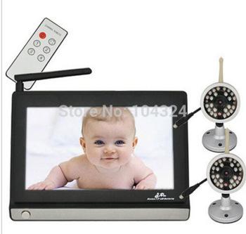 7 '' жк беспроводной ночного видения видеокамеры радионяня камеры видеонаблюдения ресивер с 2 камеры