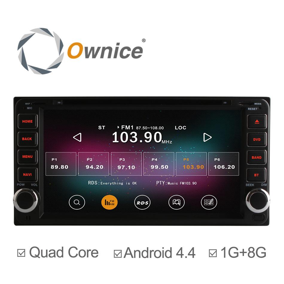 Quad Core A9 Pure Android 4.4.2 Car DVD GPS Navi For Toyota Corolla RAV4 Previa Vios HILUX Prado Terios Head Unit Support OBD(China (Mainland))