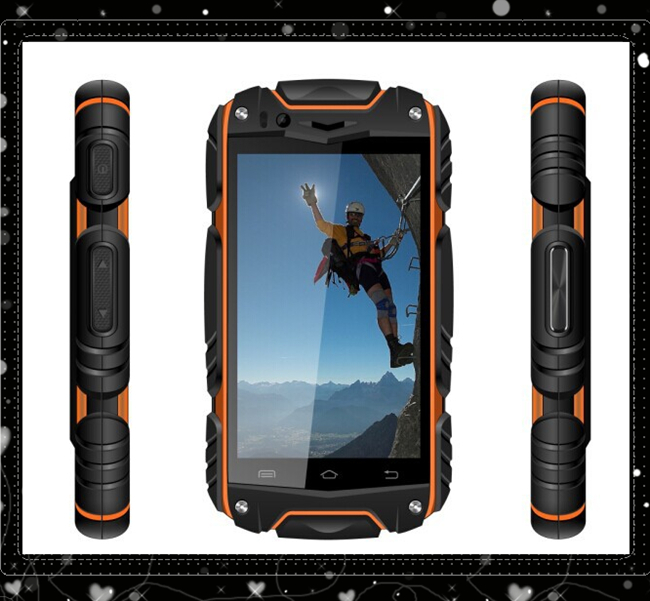"""Discovery V8 Shockproof Phone Dustproof 4.0"""" Android 4.2 smart phone MTK6572 512M+4G ROM 5MP Camera Discovery V8 mobile phone(China (Mainland))"""