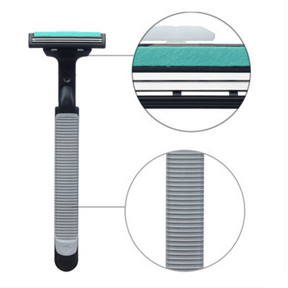 Man Manual razor Shaver Completely shaved beards hard Washable Safe and reliable A turret two heads Free Shipping(China (Mainland))
