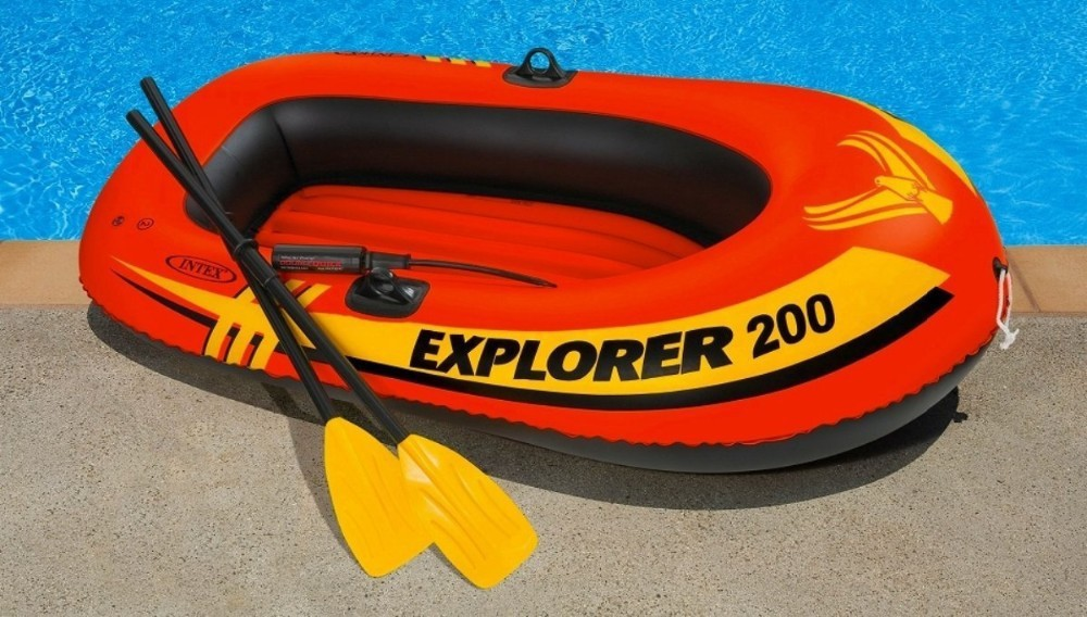 INTEX Explorer 200 Set ,2Person,Intex Fishing boat ,Inflatable boat Canoe for sale(China (Mainland))