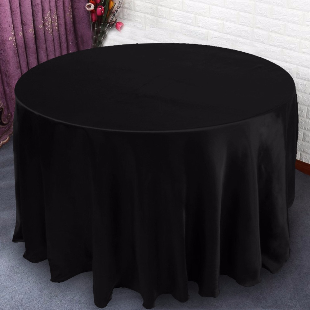 Modern Tablecloths for Weddings 120x120inch Round Table Cloths for Home Wedding Party Table Decorations High Quality Table Cover(China (Mainland))
