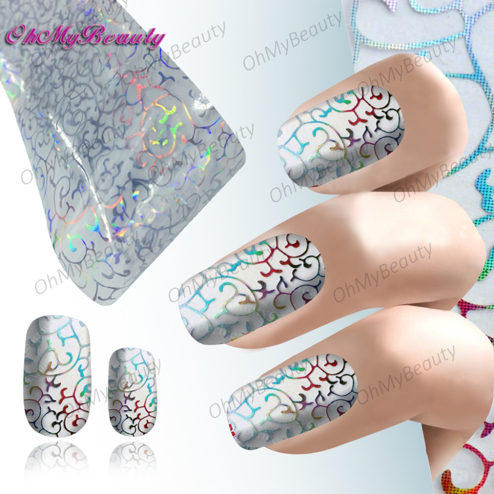 Beauty Nail Art Foil Sticker Decal Lace pattern Nails Water Decals Transfer Nail Wraps Fancy Nail Accessories(China (Mainland))