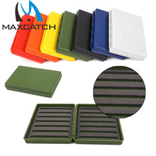 ON SALE !!! Super Slim Fly Fishing Box , Plastic Colorful Fly Box -- Hold 408 Flies(China (Mainland))
