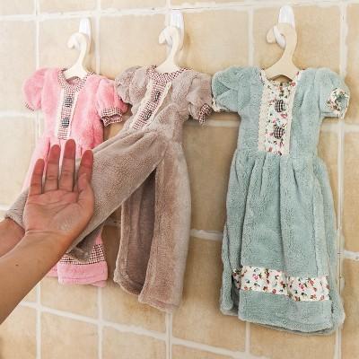 Free Shipping girl fashion cute Nursery Hand Towel Soft Plush Fabric Cartoon Animal Wipe Hanging Bathing Towel Super Absorbent(China (Mainland))