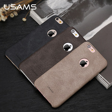 USAMS Luxury Leather Case For iPhone 6s Case 4.7 inch Phone Case for iPhone 6s Back Cover Coque Capa Phone Bags & Cases(China (Mainland))
