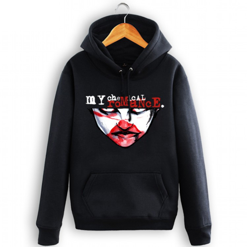 My Chemical Romance Mens Rock Band Hoodies&Sweatshirt Womens MCR Thick Tracksuit Sweatshirts Winter Hooded HipHop Fleece Jackets(China (Mainland))