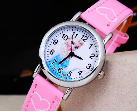 Cartoon 2015 Princess Elsa Anna Watches Fashion Children Watch Girls Kids Students Leather Sports Wristwatches Gifts 173106 - The Best International Trade Supplier store