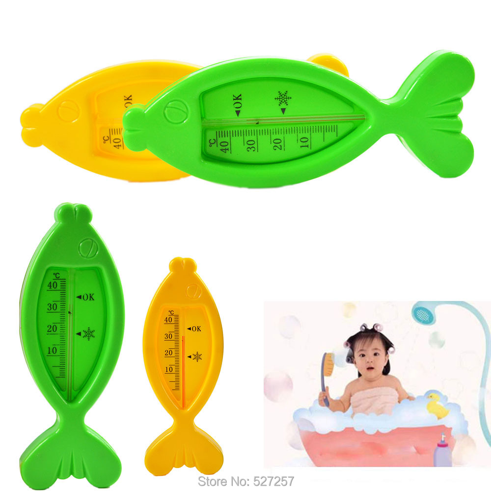 Baby Water Thermometer Temperature Meter Floating Lovely Fish Plastic Float Bath Toy Tub Sensor(China (Mainland))