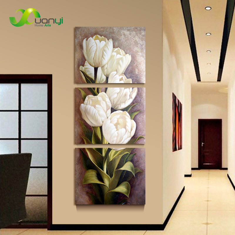 3 piece oil painting living room modern wall painting for Decorative wall mural paintings
