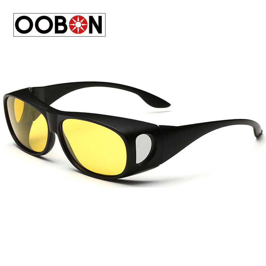 OOBON 2016 Polarized Sunglasses Mens Fishing Anti-sandstorm sunglasses driver night vision goggles glasses myopia glasses cover(China (Mainland))