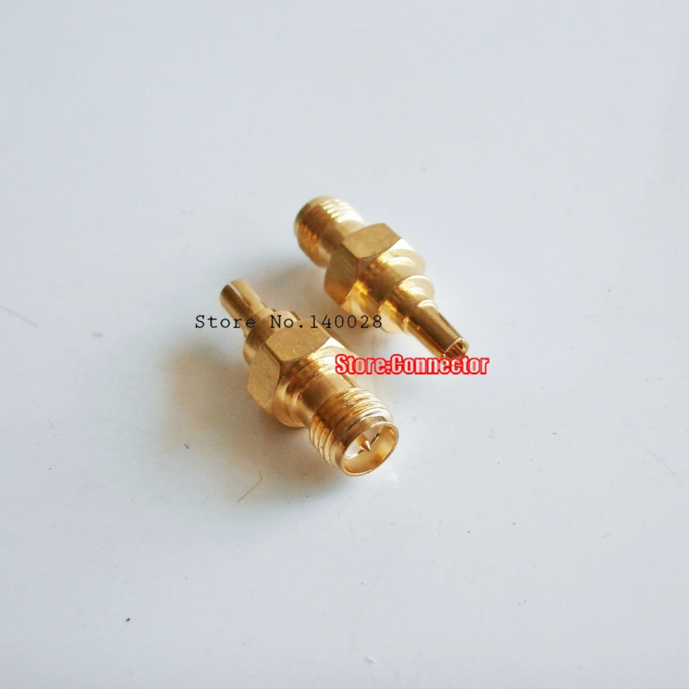 10Pcs RP-SMA female plug center to CRC9 male RF adapter connector for 3G Antenna <br><br>Aliexpress