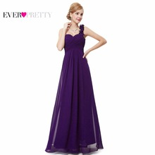 Wedding Bridesmaid Dresses Ever Pretty EP09768 Fashion Women Flower One Shoulder Chiffon Padded Long Bridesmaid Dresses 2017(China (Mainland))
