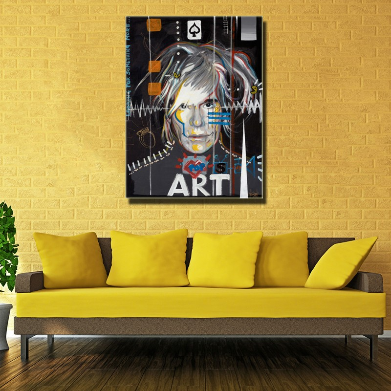 Hot Selling Print Oil Painting Pop Wall Art Andy Warhol Wall Pictures Modern Canvas Printed  For Living Room No Frame