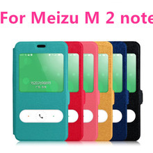 Meizu M2 Note flip leather case cover for original Meizu M2 Note 2 phone leather case with smart view free shipping(China (Mainland))