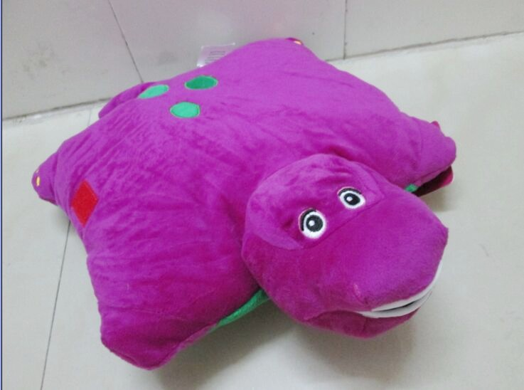 Free Shipping New Barney Child's Best Friend Cushion Pillow Plush Doll Wholesale and Retail(China (Mainland))