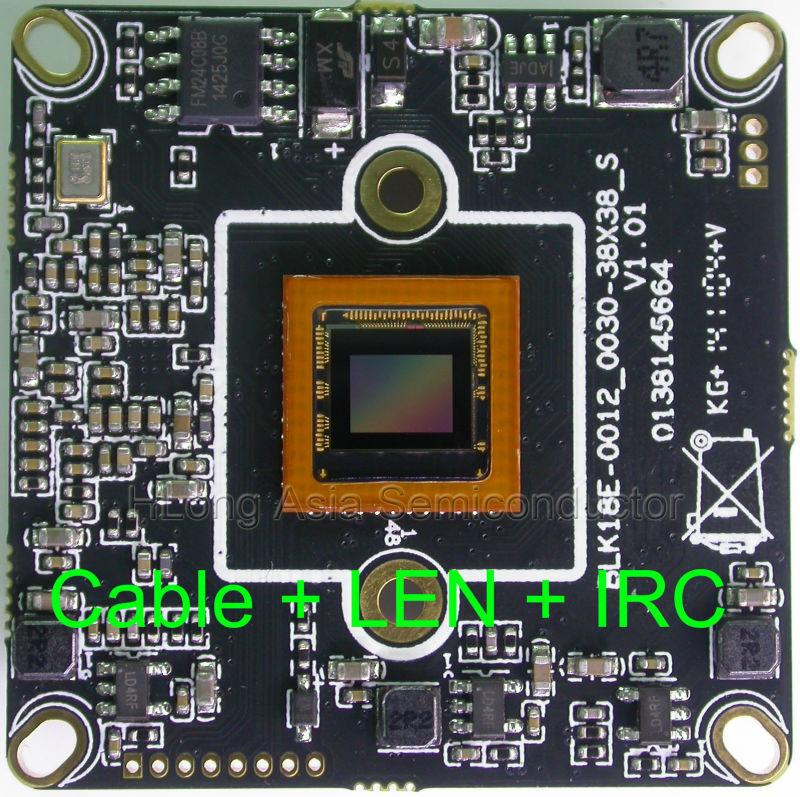 "IPC IPG 720P 1280 x 720 1/3"" Micron Aptina AR0130 board Hi3518 CCTV board, IP camera module with LAN cable + 2.0MP LEN + IRC.(China (Mainland))"