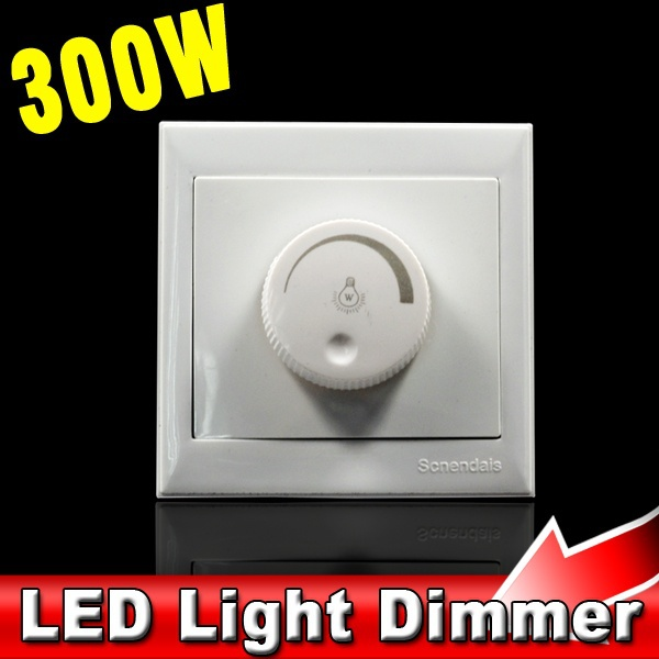 300W 50Hz 220V LED Dimmer Switch Dimming Driver Brightness Controller for Dimmable LED Bulb Lamp Ceiling Light Spotlight(China (Mainland))