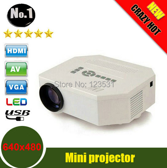 UC30 HD mini LED projector / Native 640X480 / Support HDMI / Three Glasses lenses/ 150 lumens With Remote Controller(China (Mainland))