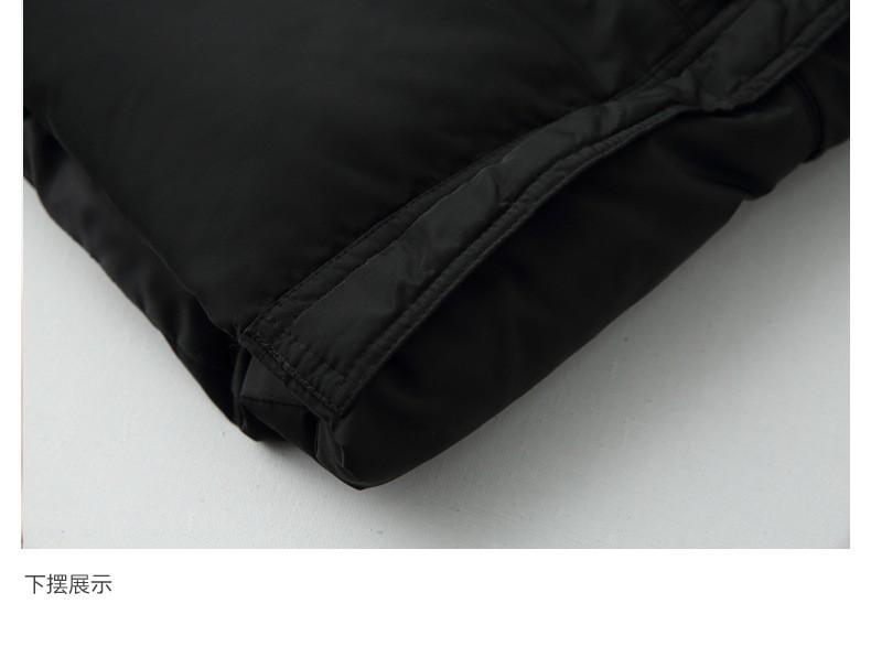 Скидки на 2016 Зимой Теплый Большой Меховой Воротник Дамы Хлопок-ватник Женская Мода Хлопка-ватник Свободные Eiderdown Пальто Хлопка G1919