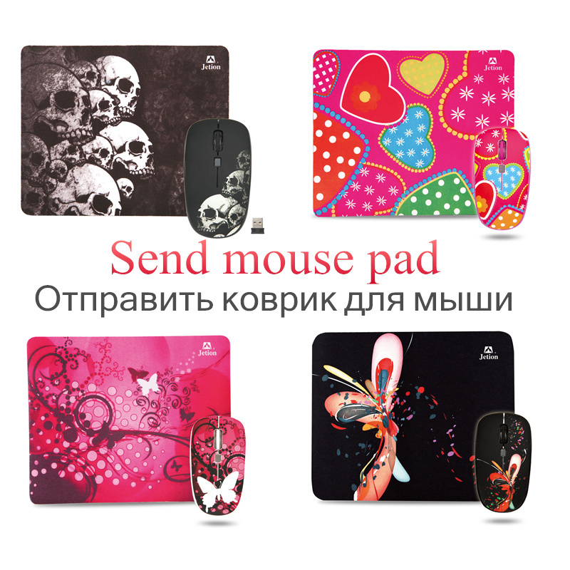 Hot Selling 2.4G USB Wireless Mouse Mice 10M Working Distance 2.4G Receiver send mouse pad with Free Shipping(China (Mainland))