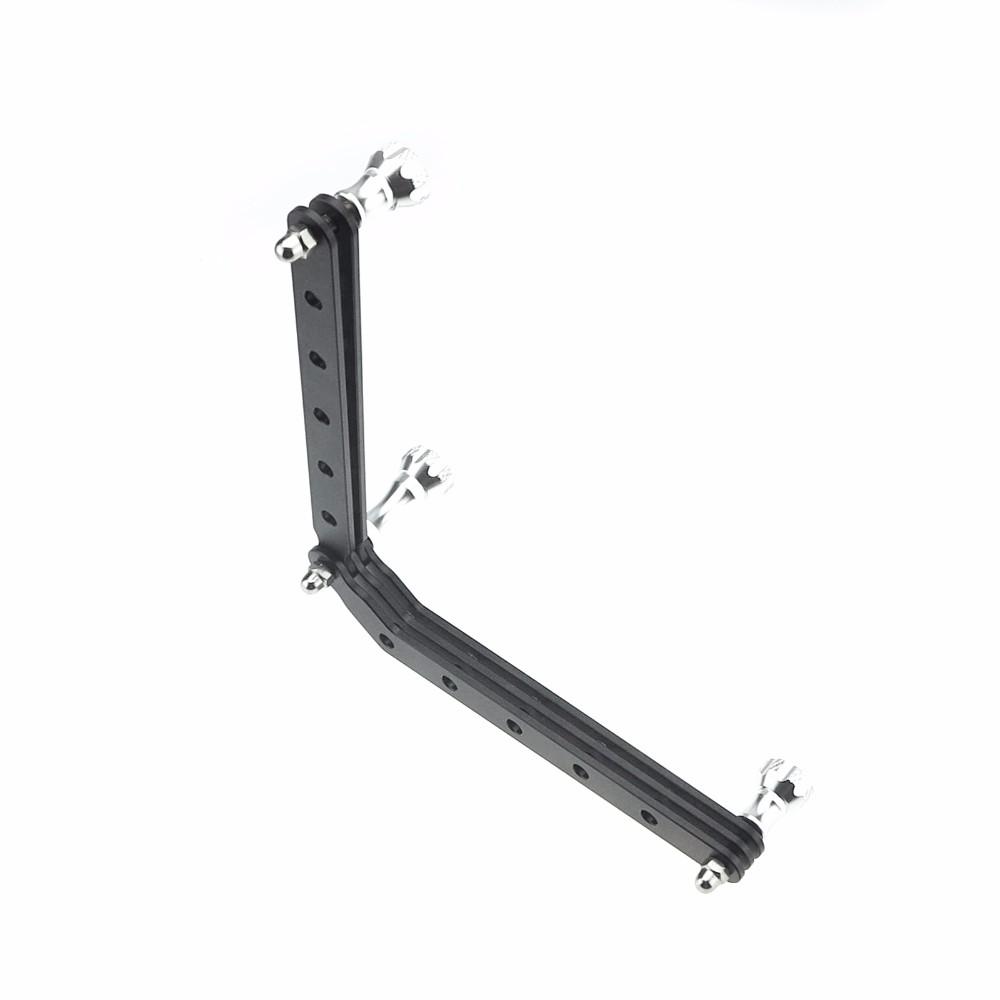 Aluminum Extension Selfie Pole Arms With Screw Mount for Gopro Hero 4 3+ 3 Xiaomi yi 4K SJCAM SJ4000 Go Pro Accessories