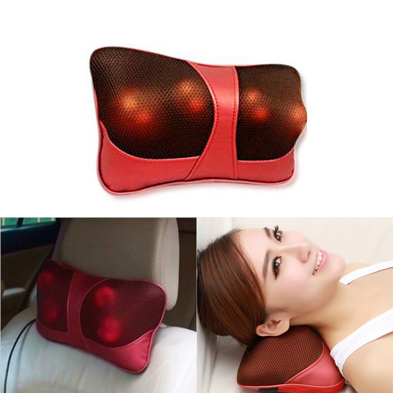 Home Car Body Shoulder Neck Shiatsu Massager Pillow Infrared Vibrating Massage Cushion Headrest With EU/AU/US Plug(China (Mainland))