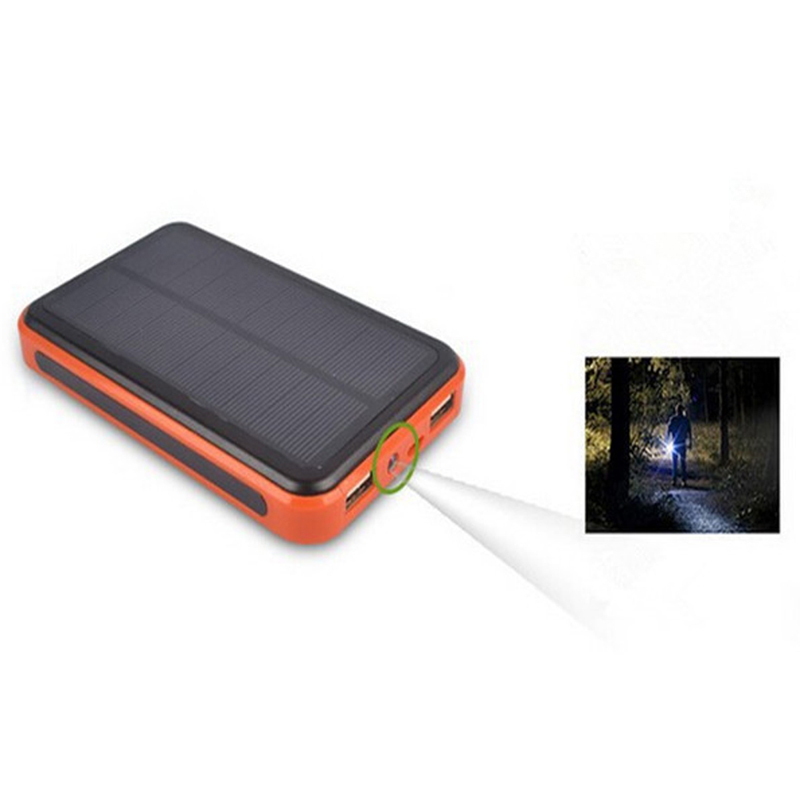 100000 mAh Waterproof Dual USB Solar Charger Power Bank External Battery - newfrogdotcom store