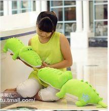 cute crocodile toy plush cartoon crocodile doll green crocodile toy gift about 75cm