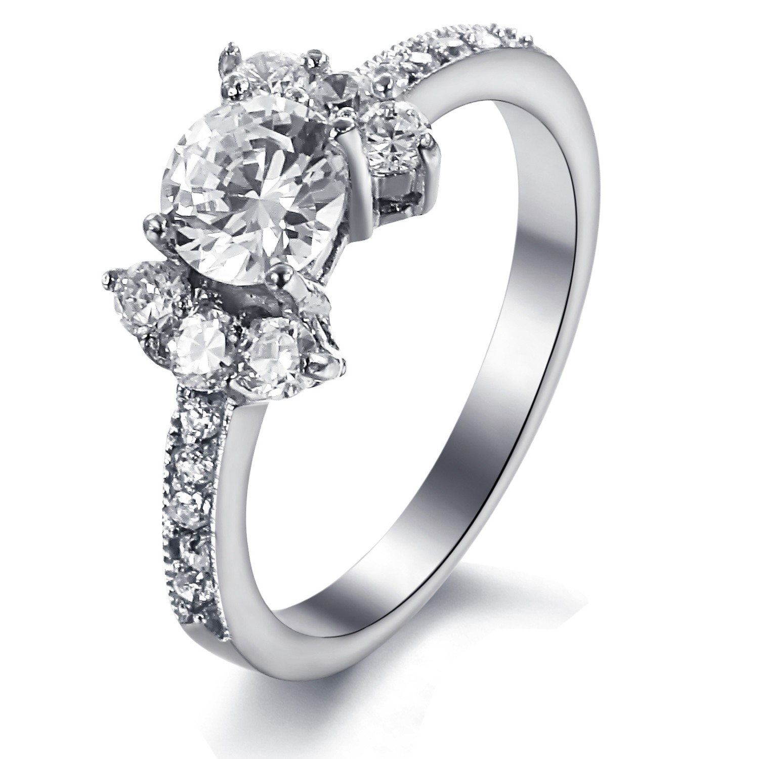 Stainless Steel Diamond Engagement Rings Diamond Engagement Rings