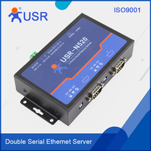 Q039 USR-N520 Serial RS232/RS485/RS422 to Ethernet Server TCP IP Double Ports Converter Serial Device Support DHCP and DNS(China (Mainland))