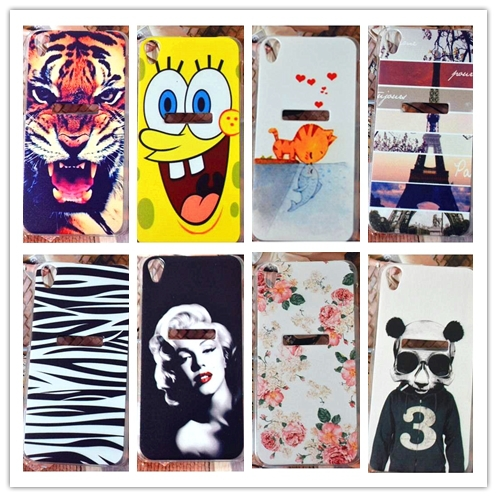 22 pattern,cute tiger zebra flower cover case Lenovo S850 case cover / hard painting case Lenovo S850 case,free shipping(China (Mainland))