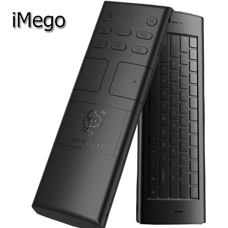 iMego M20 2.4G Ultra Sensitive 3 Axial 10M Wireless Distance Full Keys Mini Gaming Rechargeable Air Mouse For Android Box TV Etc(China (Mainland))
