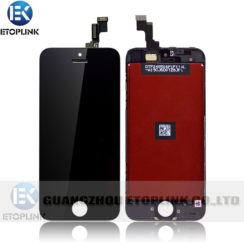 100% Test New iphone 5S lcd Touch Screen Digitizer Assembly Iphone Black&White color - Guangzhou Etoplink Co., Ltd store