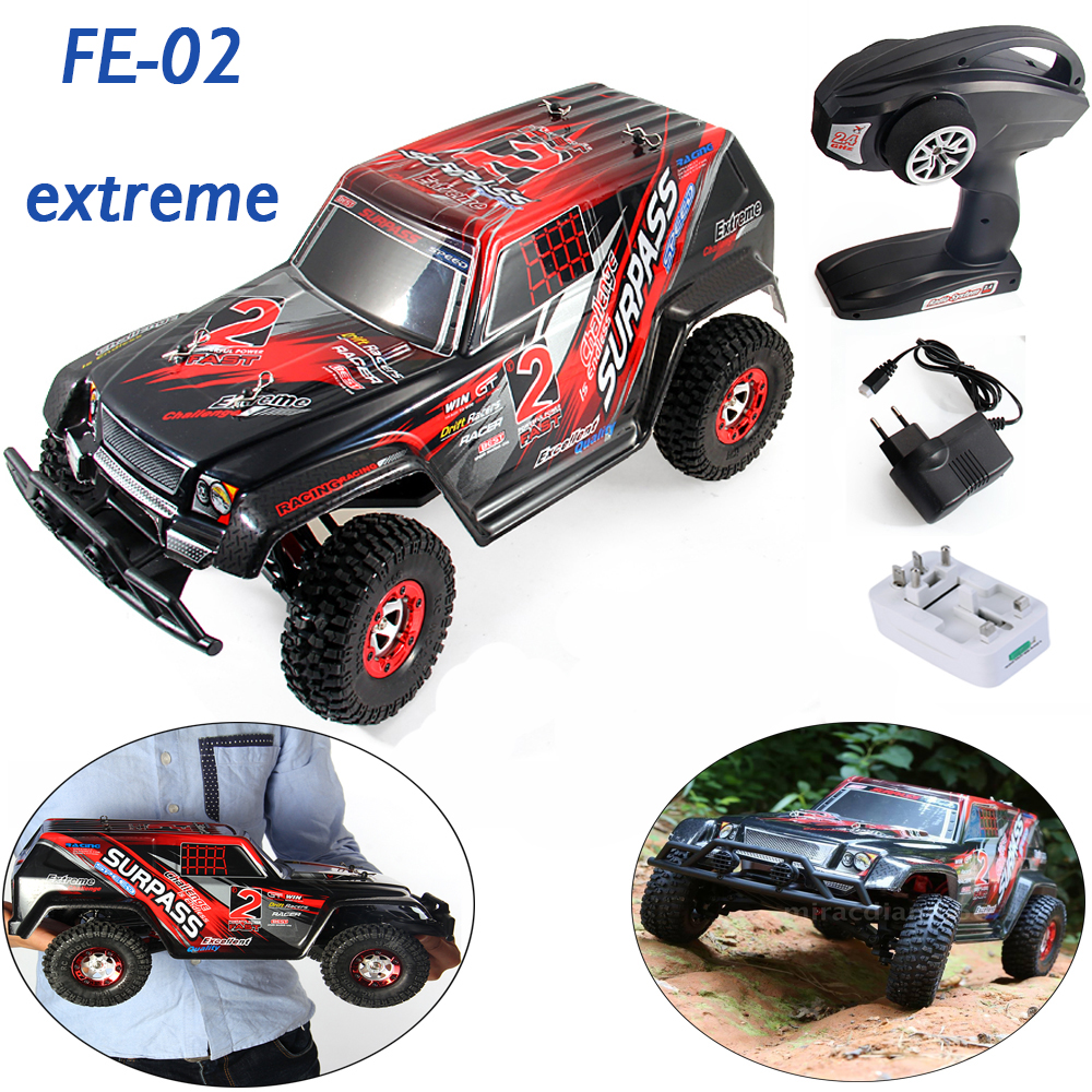 Feiyue FY02 Extreme Change-2 2.4GHz 1/12 4WD SUV RTR Surpass Speed RC Car Off-Road Buggy Truck Competition Red Truck Car Toy(China (Mainland))