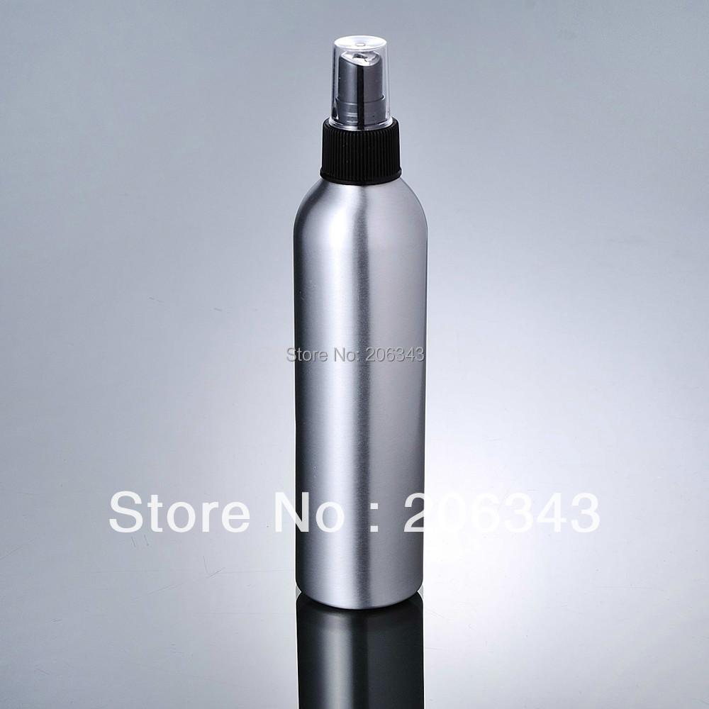 250ml Aluminium bottle pump sprayer bottle black pump spray head Aluminum metal bottle spray bottle mist sprayer