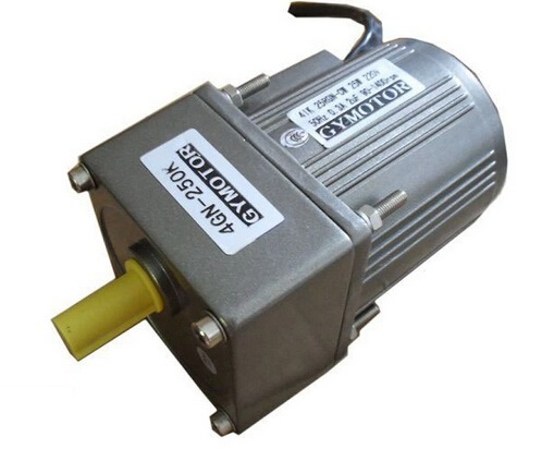 AC 220V 15W Single phase regulated speed motor gearbox. AC gear motor,