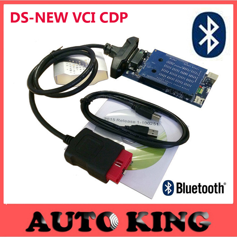 Cool Newest vci 2015 R1 cd dvd with bluetooth obd obd2 OBDII scan ds tcs CDP