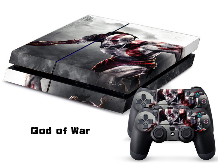 1Set Customs God Of War Skin Sticker For Sony Playstation 4 PS4 Console Skins 2Pcs Vinyl Decal Stickers For PS4 Controller Games(China (Mainland))