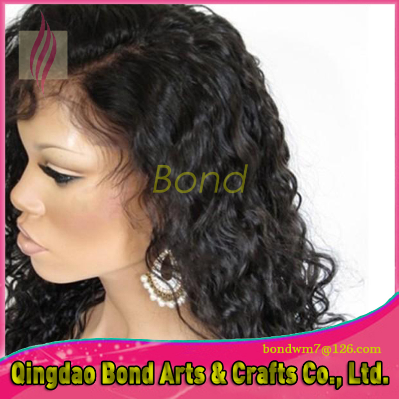 Фотография Best Long Full Lace hair Wigs with Baby Hair Brazilian Loose Curly Glueless hair Lace Front Wig with Baby Hair