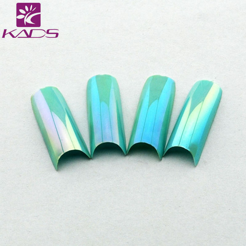 KADS 20PCS/SET Green color Magic Color design nail tips designs Nail Art Tips Stiletto False Nail Art Decorations(China (Mainland))